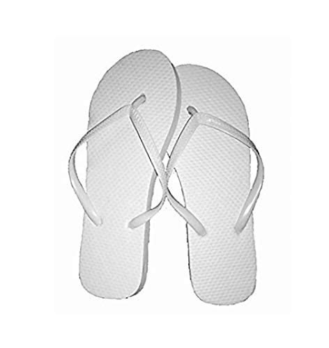 Wholesale Ladies 72 Pairs Solid White Flip -