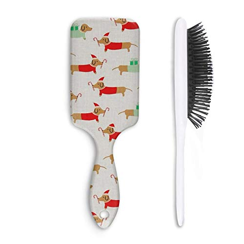 Men Mens Kids Wet and Dry Detangle Hair Brush Paddle Brush Christmas Darlings Dachshunds Boar Bristles Hairbrush Daily Use for Conditioning Improve Hair Texture
