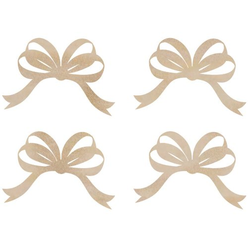 Wood Flourishes-Ribbon Bows ()
