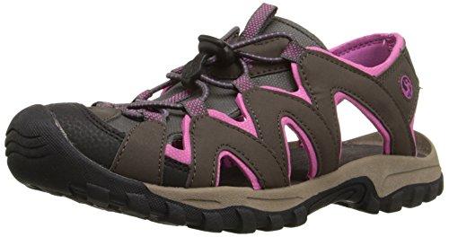 Northside Women's Corona Sandal,Brown/Berry,9 M US