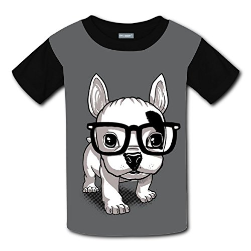 Clever Guys Costume Ideas (Clever Bulldog Short Sleeve T Shirt Sport Tee Top Round for Boys Grls XS)
