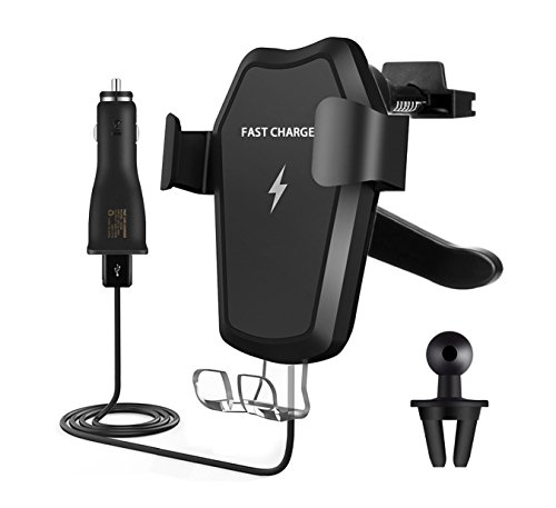 Fast Wireless Charger Car Mount Q1 Wireless Car Charger Mount Air Vent Stand Phone Holder for iPhone 8/8 Plus, iPhone X, Nexus 5/6 / 7, Samsung Galaxy S8 S8 Plus S7 Edge S7 S6 Edge Plus Note 5 by Ellishang (Image #6)