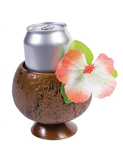 Luau Party Coconut Cup and Straw