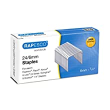 Rapesco Grapas - Caja de 5000 grapas 24/6mm (22/6), uso habitual en la mayoria de grapadoras