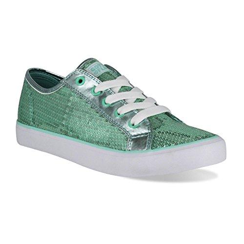 Gotta Flurt Disco II Lace Up Low Top Sneakers, Mint, Size 7.5 by Gotta Flurt