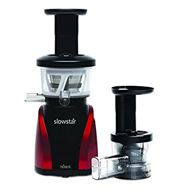 Tribest SW-2000R-B Slow Star Vertical Slow Cold Press Juicer and Mincer