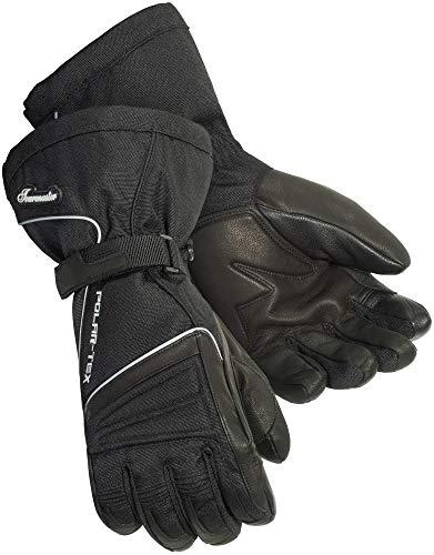 TourMaster Men's Polar-Tex 3.0 Motorcycle Gloves (Black, Large)