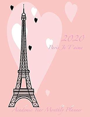 com paris je t aime academic year monthly planner