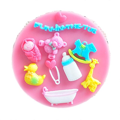 Chariot trading - Baby shower party fondant molds,silicone mold soap