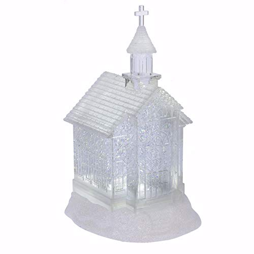 "Midwest Gloves 10.75"" LED Lighted Swirling Glitter Church Christmas Snow Globe Glitterdome from Midwest"