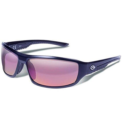 Eyewear Gargoyles Sunglasses - Gargoyles Performance Eyewear Prevail Polarized Safety Glasses, Matte Black Frame/Smoke with Plasma Mirror Lenses