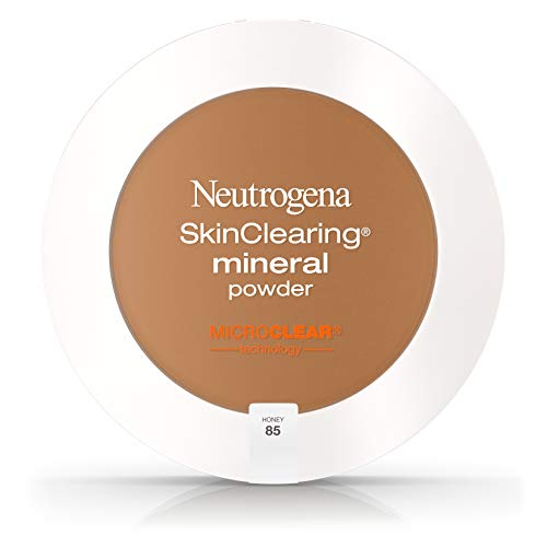 Neutrogena SkinClearing Mineral Acne-Concealing Pressed Powder Compact, Shine-Free & Oil-Absorbing Makeup with Salicylic Acid to Cover, Treat & Prevent Acne Breakouts, Honey 85,.38 oz