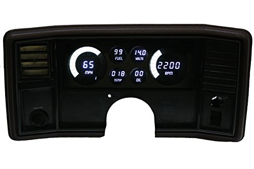 1978-1988 Monte Carlo/El Camino LED Digital Dash Replacement Panel (White) - El Camino Dash Board