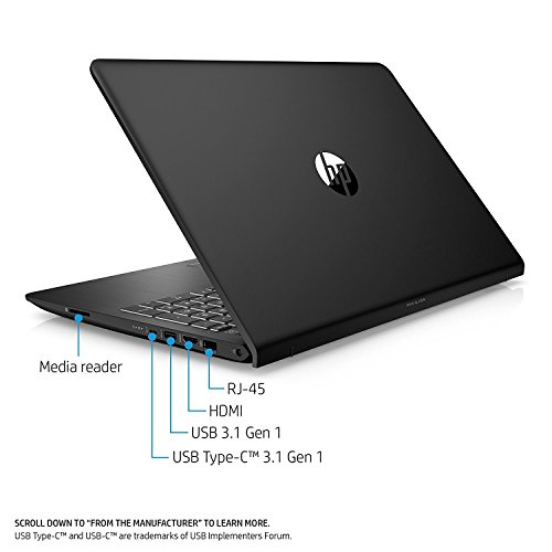 HP Pavilion 15t Premium Gaming and Business Power Laptop PC ( Intel i7 Quad Core, 8GB RAM, NVIDIA GeForce 1050 2GB, 1TB HDD + 128GB SSD, 15.6'' FHD (1920 x 1080), WiFi, Bluetooth, Win 10 Home) 1GK62AV by MichaelElectronics2 (Image #2)