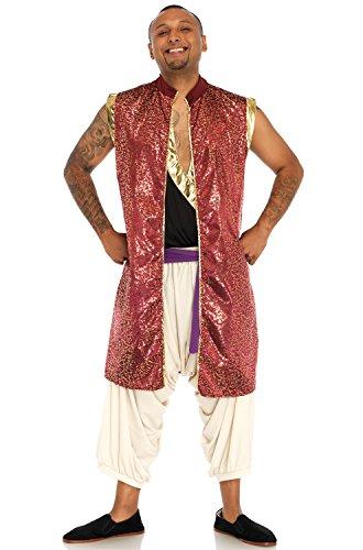 (Leg Avenue Mens Arabian Prince Aladdin Costume, Multi)