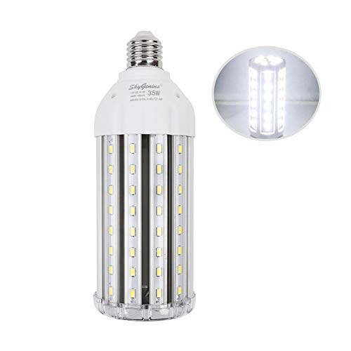 35W Super Bright LED Corn Light Bulb for Garage, E26 High Output 3500Lm 6500K Cool White Daylight LED Corn Bulb 300 Watt Equivalent, for Backyard Basement Barn Workshop Outdoor Large Area(New Version)