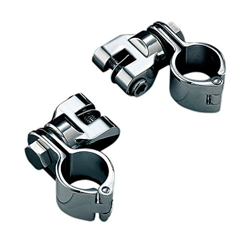 Kuryakyn Peg Mounts with 1 1 and 4 Magnum Quick Clamps - Chrome