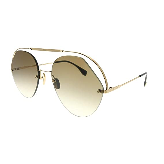 4c9f32553f Fendi RIBBONS   CRYSTALS FF 0326 S GOLD BROWN women Sunglasses   Amazon.co.uk  Clothing