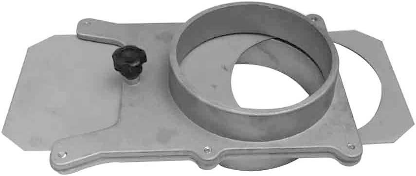 Big Horn 11437 4-Inch Self Cleaning/No Clog Aluminum Blast Gate for Vacuum/Dust Collector