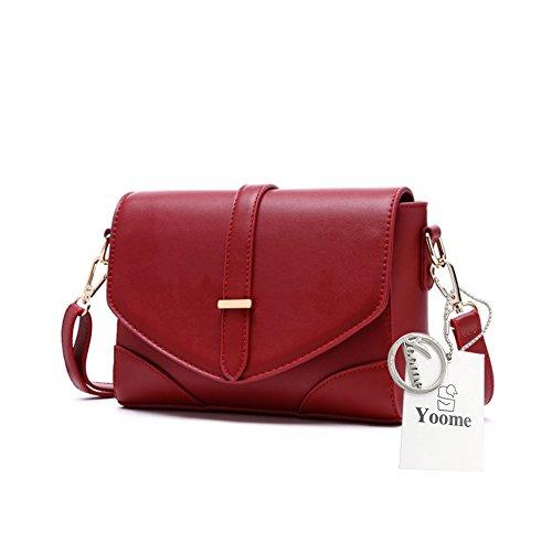 Yoome Retro Flap Bolsa Mujer Bolso Mensajero Maletín Vintage Bolsas Y Carteras Monedero Monedero Cartera - Rojo rojo