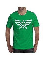 Legend of Zelda Mens T-Shirt Bottle Green / Medium