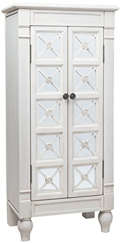 "Hives and Honey ""Celene"" Jewelry Armoire, Century White"