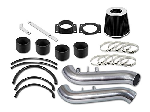R&L Racing Black Short Ram Air Intake Kit + Filter For Nissan 90-96 300ZX Fairlady Z32 3.0 V6 Non-Turbo