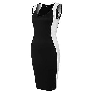 Amazon.com: YKARITIANNA Women Black and White Stripe Tight Fitting Big Code Dress