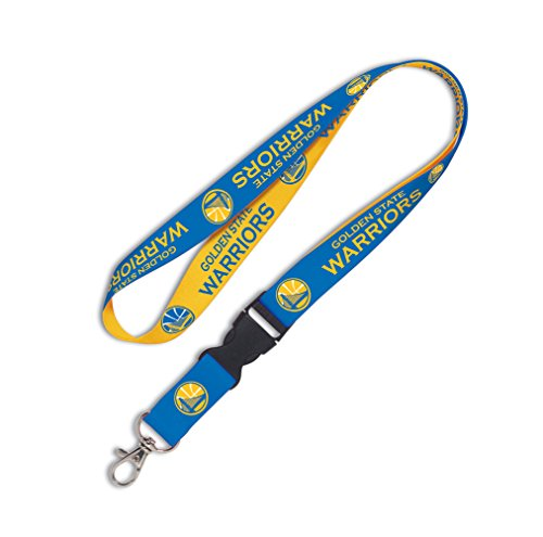 NBA Golden State Warriors Lanyard with Detachable Buckle, 1-Inch by WinCraft