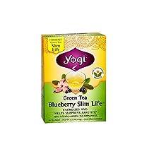 Yogi Tea Green Tea, Blueberry Slim Life 16 bags (Pack of 2) by Yogi Teas