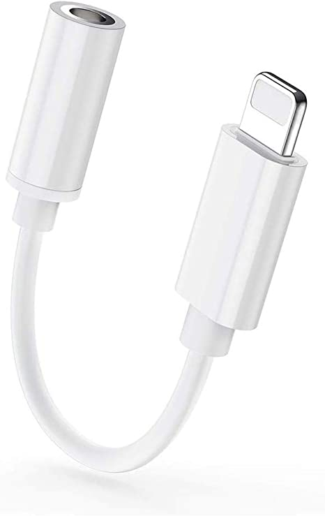 Kopfh/örer Adapter f/ür iPhone 7 Adapter Kopfh/örer 3,5-mm-Konverter Jack Adapter f/ür iPhone 7//7 Plus//8//8 Plus//X//XS//XR//11 AUX-Audio-Jack-Kabel Ohrh/örer-Adapter Musikunterst/ützung f/ür iOS 10.3 oder mehr