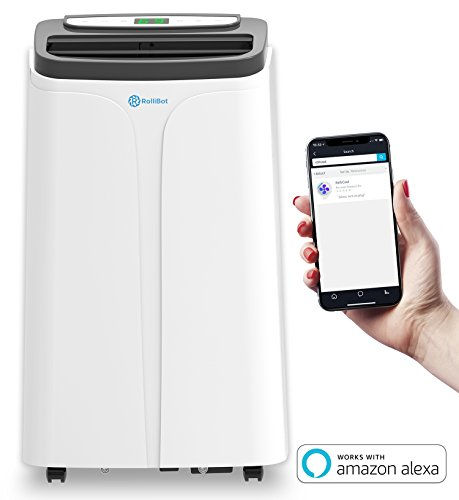 (RolliCool 14,000 BTU Portable Air Conditioner Alexa-Enabled AC Unit with Heater, Dehumidifier, Fan, Mobile App (COOL100H))