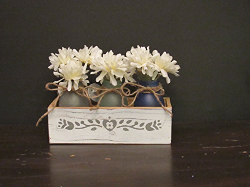 Sea Glass jars with decorative wooden box