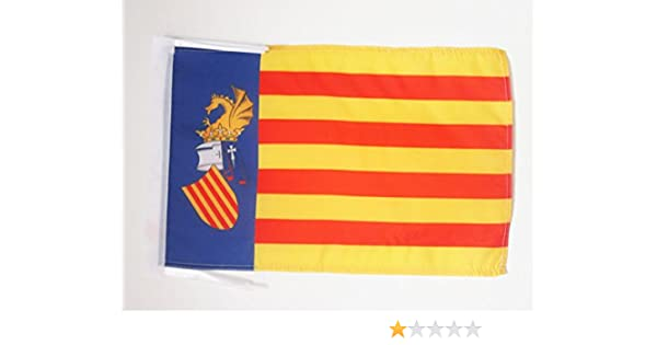 AZ FLAG Bandera de Valencia ESTATUT DE BENICÀSSIM 45x30cm - BANDERINA del PAÍS VALENCIÀ 30 x 45 cm cordeles: Amazon.es: Hogar