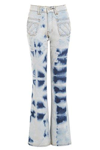 Pour uk 12 Détendu Denim Bottillon Femmes Coupe Ss7 Neuf Clair Jean Jeans Taille 8 14 Bleu 5qv1W5UP