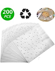 LiyuanQ Self Adhesive Candy Bag Cellophane Cookie Bags Self-adhesive Sealing Cellophane Bags White Polka Dot Clear Bags OPP Plastic Party Bag for Bakery, Candy, Cookie (5.5 x 5.5 inches, 200 pcs)