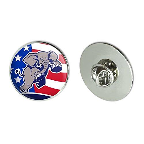 Angry Republican Elephant Politics GOP American Flag Metal 1.1