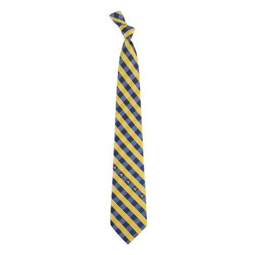 West Virginia Check Poly Necktie