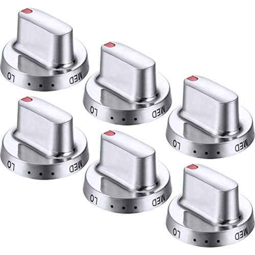 Dg64-00472A Dial Knobs Compatible with Samsung Brand Range/Oven/Gas Stove Knob Dg64-00347B, DG64-00347A, AP5325363, PT15217047, PS4241101, EAP4241101, AH4241101 (6 Pack)