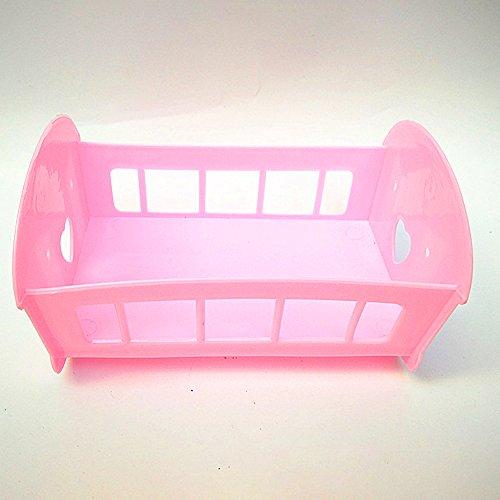 Ocamo Cama de Cuna para Barbie de Niños,Juguete Regalo Decoración,12CM/3.5 Pulgadas