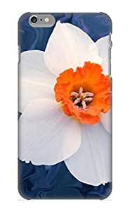 Inthebeauty Durable Defender Case For Iphone 6 Plus Tpu Cover(Daffodill In Blue) Best Gift Choice
