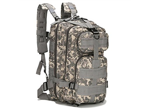 Lily.N, Outdoor Backpack 30L 3P Outdoor Military Rucksacks Tactical Backpack Camping Hiking Trekking Bag - Tx Glass Victoria