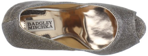 Badgley Mischka Womens Humbie IV Peep-Toe Pump Gold/Pewter
