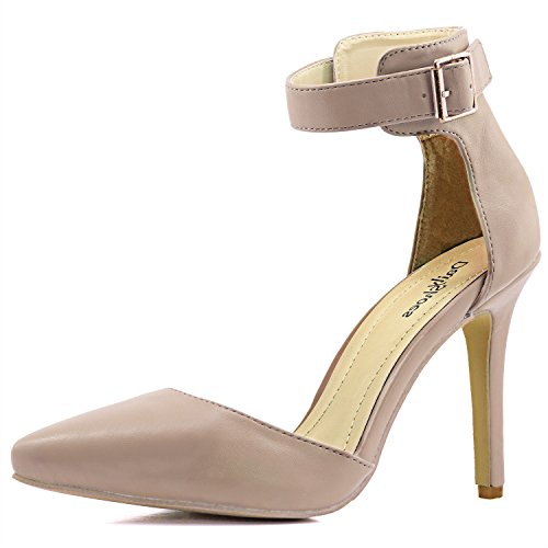 Women's Pointed Toe Ankle Buckle Strap Evening Party Dress Casual Sandal Shoes - Sexy Buckle