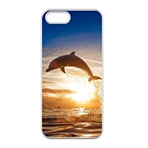 Welcome!Iphone 5/5S Cases-Brand New Design Cute Fashion Dolphin Printed High Quality TPU For Iphone 5/5S 4 Inch -03 by mcsharks