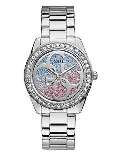 GUESS Women's Japanese Quartz Watch with Stainless-Steel Strap, Silver, 20 (Model: ()