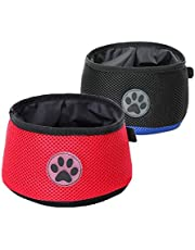 Pawyager Collapsible Dog Bowl, 2 Pack Portable Pet Feeding Watering Dish, Walking Parking Traveling