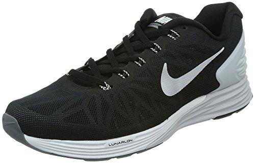 Nike Lunarglide 6 Mens Running Sneaker, Negro/Platino Puro/Cool Gris/Blanco, 44.5 M EU/9.5 M UK