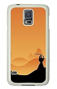 Samsung S5 case custom made covers Samurai Silhouette Background PC White Custom Samsung Galaxy S5 Case Cover