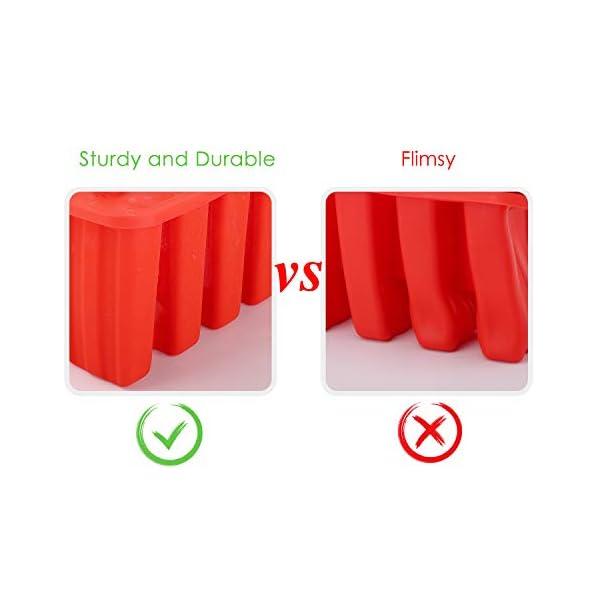 Nuovoware Stampo per Gelato, 10 Cavità Stampi Riutilizzabili in Silicone Senza BPA con Vassoio Produttori per Ghiaccioli… 7 spesavip